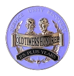 Old Timers Honoree Plum AA Medallions