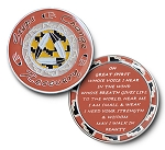Native American Step Change Recovery Triplate Affirmation Medallions  AA|NA|Al-Anon