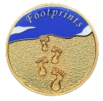Footprints Inspirational Recovery Coin AA NA Al-Anon