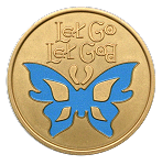 Let Go Let God Painted AA NA Al-Anon Coin