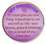 My Daughter Inspirational Recovery Coin AA NA Al Anon