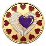 My Heart is in My Recovery Painted AA Coin