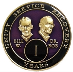 Purple Bill and Bob Triplate AA Coins