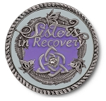 Sisters in Recovery  Lilac Premium Specialty Medallions  AA|NA|Al-Anon