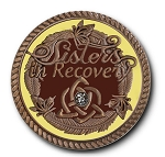 Sisters in Recovery Mocha Premium Specialty Medallions  AA|NA|Al-Anon