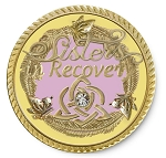 Sisters in Recovery Soft Pink and Yellow Premium Specialty Medallions  AA|NA|Al-Anon