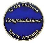 Husband Inspirational Recovery Coin AA NA Al-Anon