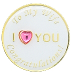 To My Wife Congratulations Inspirational Recovery Coin AA NA Al Anon