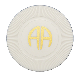 AA White Poker Chip