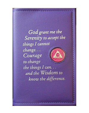 Big Book Covers w/ Serenity Prayer & Medallion Holder