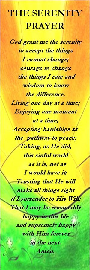 The Serenity Prayer (Long) Bookmark