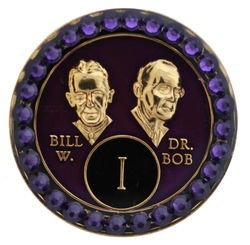 Crystallized Purple Bill and Bob Medallion