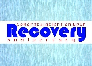 Congratulations on your Recovery Anniversary Greeting Card