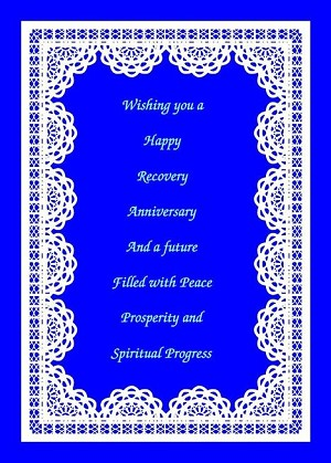 Wishing You A Happy Recovery Anniversary, Greeting Card