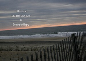 Faith Is When You Close Your Eyes and Open Your Heart, Recovery Card