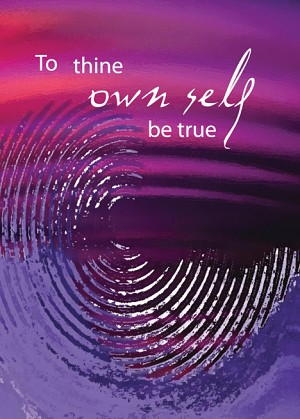 To Thine Own Self Be True 12 Step Recovery Card
