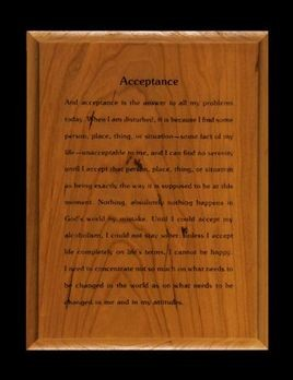 Acceptance Wood Laser Engraved Wall Plaque