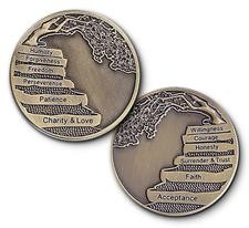 12 Steps Bronze Affirmation AA Coins