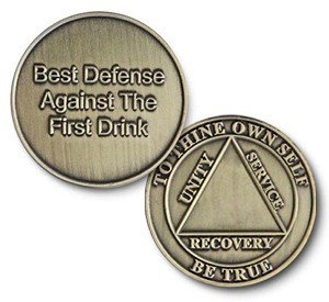 Best Defense Bronze Affirmation Coins  AA Medallions