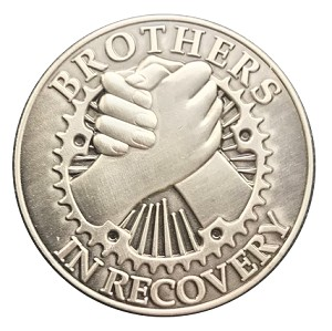 Brothers In Recovery Antique Nickel Affirmation Tokens  AA|NA|Al-Anon