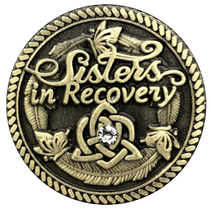 Sisters in Recovery Premium Bronze Specialty Medallions  AA|NA|Al-Anon