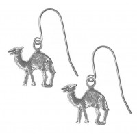 Sterling Silver Camel Earrings
