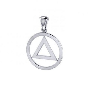 Sterling Silver AA Symbol Small Pendant