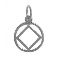 NA Symbol Medium Size Sterling Silver Pendant