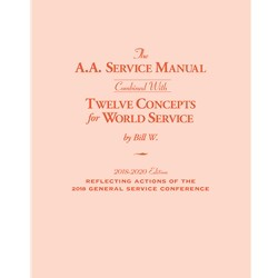 The A.A. Service Manual/Twelve Concepts for World Service (Large Print) 2018-2020
