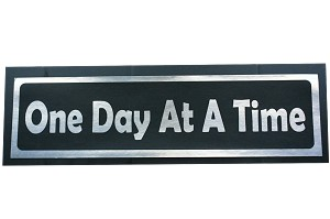One Day At A Time Bumper Sticker AA NA Al Anon