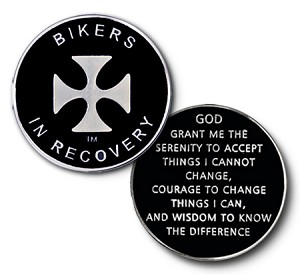 Bikers in Recovery Triplate Specialty Medallions  AA|NA|Al-Anon