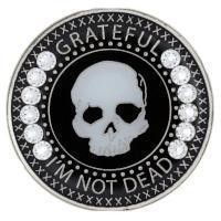 Grateful I'm Not Dead Bling Recovery Medallion with Crystals  AA NA