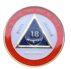 Red And Blue Sparkle 18 Months Triplate AA Medallions